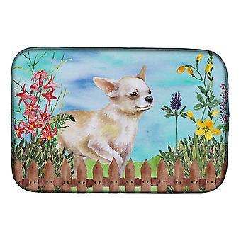 Carolines Treasures CK1259DDM Chihuahua jalka ylös kevät lautasen kuivaus matto