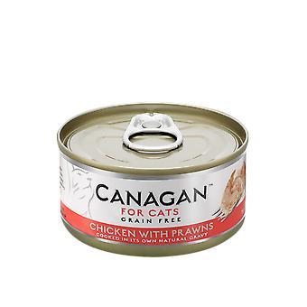 Carruba 75g di pollo con gamberi gatto bagnato alimentare può - 75g può