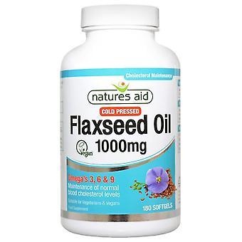 Nature's Aid Flaxseed Oil 1000mg Softgels 180 (16850)