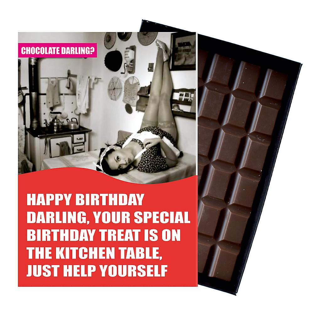 Funny Birthday Gift For Men Husband or Boyfriend Boxed Chocolate Greeting Card Present CDL131
