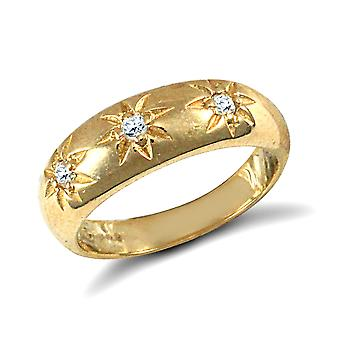Jewelco London Kids Solid 9ct Yellow Gold White Round Brilliant Cubic Zirconia Gypsy Trilogy Baby Ring Jewelco London Kids Solid 9ct Yellow Gold White Round Brilliant Cubic Zirconia Gypsy Trilogy Baby Ring Jewelco London Kids Solid 9ct Yellow Gold White Round Brilliant Cubic Zirconia Gypsy Trilogy Baby Ring Jewelco