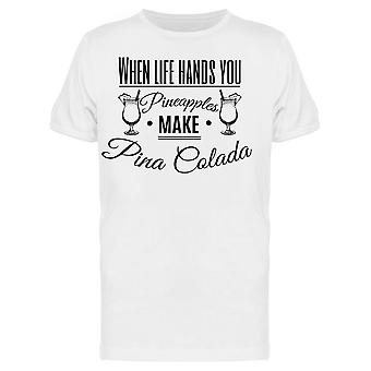 Make Pina Colada Graphic Tee Men's -Image by Shutterstock