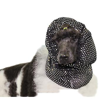 Show Tech Black Fancy Snood Medium to Large Dogs Long Ear Breeds