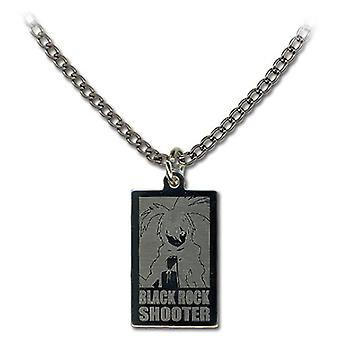 Necklace - Black Rock Shooter - New BRS Rectangle Anime Licensed ge35553