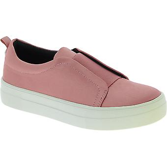 ستيف مادن المرأة وapos;s منصة الأزياء الدانتيل الانزلاق على الأحذية في الساتان الوردي