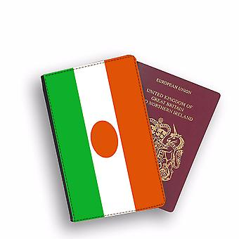 NIGER Flag Passport Holder Style Case Cover Protective Wallet Flags design