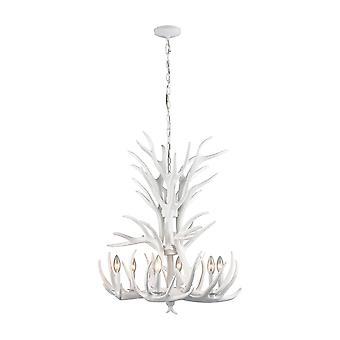 Big sky tall 6-light chandelier