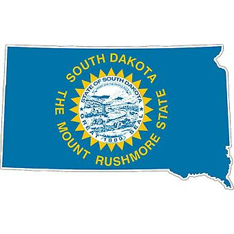 Sticker Sticker Adhesif Vinyl Car Flag Map South Dakota USA
