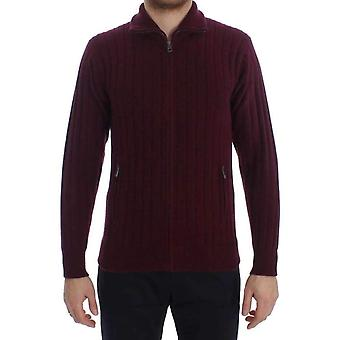 Dolce & Gabbana Bordeaux Knitted Cashmere Sweater -- SIG2834245