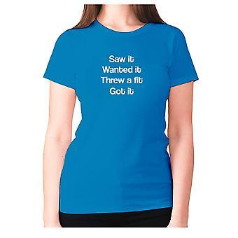 Womens lustige T-shirt Slogan t-Shirt Damen Neuheit Humor - sah es wollte, dass es warf eine passante bekam es