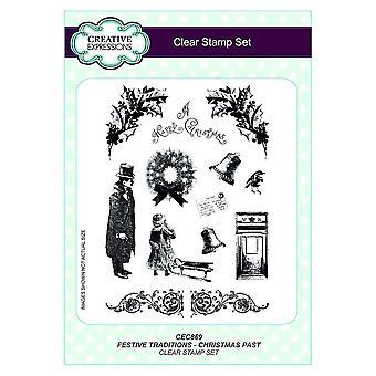 Creatieve uitingen duidelijk Stamp Set - feestelijke tradities - Christmas verleden