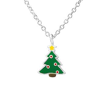 Children's Sterling Silver Christmas Tree Necklace