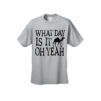 Men's Funny Hump Daaay! Oh sim! Camiseta de manga curta de camelo