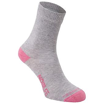 Craghoppers Grey/rose Womens NosiLife Twin Pack Chaussettes