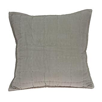"""20"""" x 7"""" x 20"""" Cubierta de almohada acolchada sólida gris de transición con inserto de polietileno"""