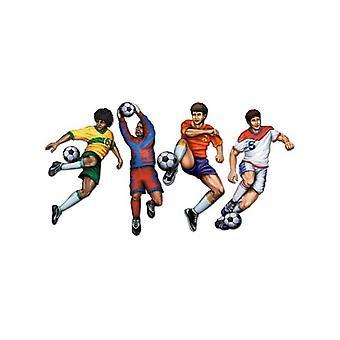 Fotballspillere pappen avskårne (4 i pakken)