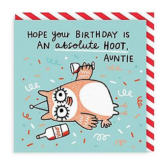 oh Deer Birthday Hoot Tante Square Carte