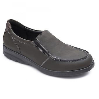 Padders Comet Mens Leather Regular (f Fit) Shoes Charcoal
