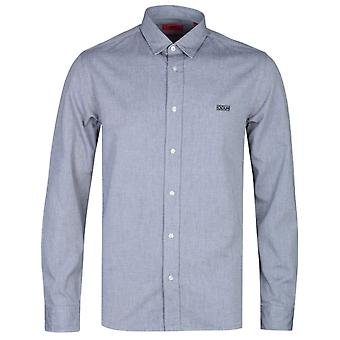 HUGO Evart Washed Grey Straight Fit Shirt