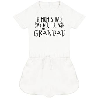 If Mum & Dad Say No, I'll Ask My Grandad Baby Playsuit
