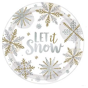 Amscan  Let It Snow Paper Plates (Pack of 8)