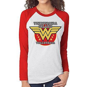 Camiseta de beisebol mulher-voleibol maravilha, mulheres