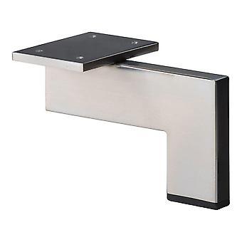 RVS / INOX design hoekprofiel meubelpoot 10 cm
