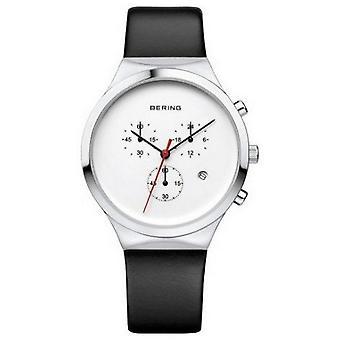 Bering mäns klocka armbandsur kronograf-14736-404 läder