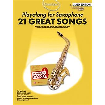 Guest Spot  Playalong For Alto Saxophone  Gold Edition BookAudio Download