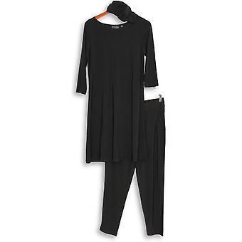 Attitudes door Renee 2 PC set garderobe Warrior broek & jurk zwart A308328