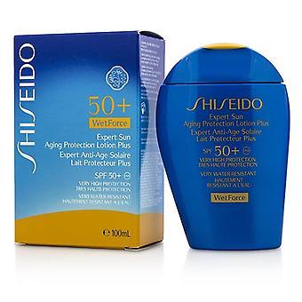 Shiseido expert zon veroudering bescherming lotion plus Wetforce voor gezicht & amp; Body SPF 50 +-100ml/3,4 oz