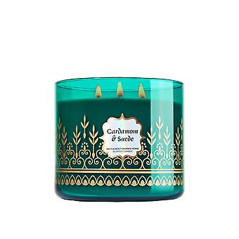 Bath & Body Works Cardamom & Suede Scented Candle 14.5 oz / 411 g (Pack of 2)