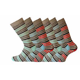 Menns mote Stripe Giovanni Cassini sokker R4 6-11 6pk