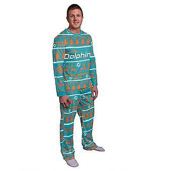NFL téli XMAS pizsama pizsama Pajama-Miami Dolphins