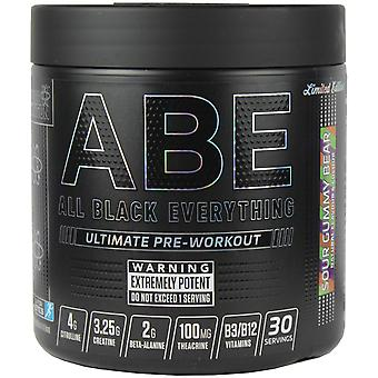 Applied Nutrition All Black Everything Pre-Workout Sour Gummy Bear 315g
