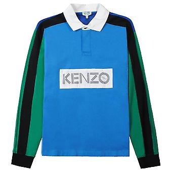 Kenzo Colorblock Long Sleeve Polo Shirt
