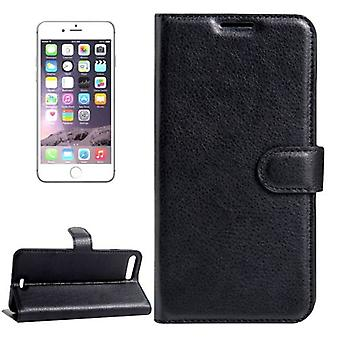 For iPhone 8 PLUS,7 PLUS Wallet Case,Elegant Protective Leather Cover,Black