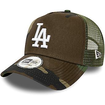 Nieuw tijdperk A-Frame Trucker Cap - Los Angeles Dodgers houten camo