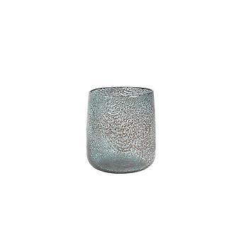Lys & Levende Vase 18x19cm Marb Glass Blå