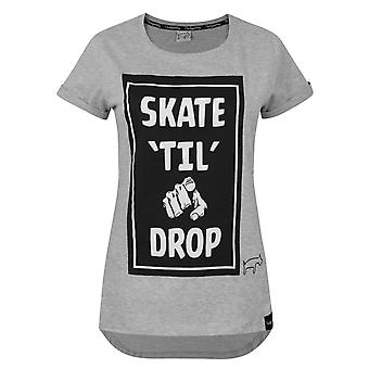 Two Legged Dog Skate Til You Drop Grey Women's T-Shirt