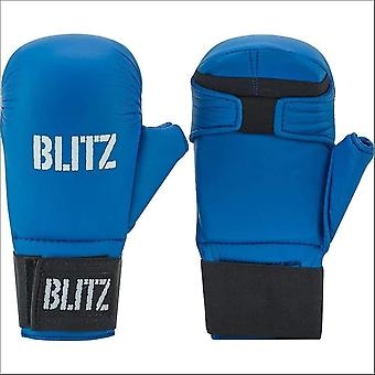 Blitz Sports karate Elite pu sparrings handsker-blå