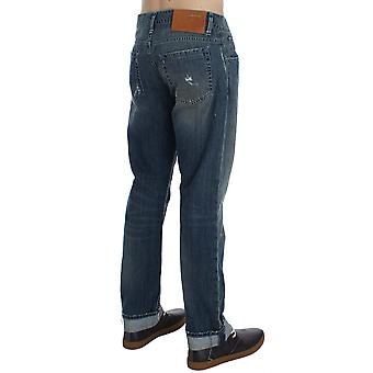 Acht Blue Wash Cotton Denim Regular Fit Jeans