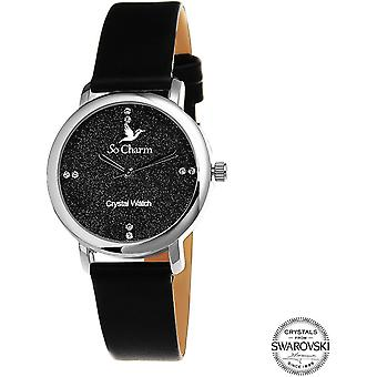 Bekijk so charm horloges MF377-NOIR - Dameshorloge