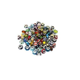 50 Pcs Mixed Style Lampwork Murano Beads For Charm Bracelets