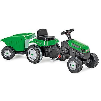Pilsan Active Pedal Operated Tractor with Trailer Green