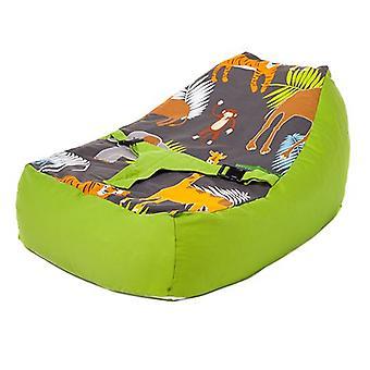 Cama de estar lista Tejido de algodón ? Diseño de Africa (Africa Design) Bebé Lounger ( Baby Lounger) Bolsa de Frijoles (Bean Bag) Arnés de seguridad ? Adecuado desde el nacimiento