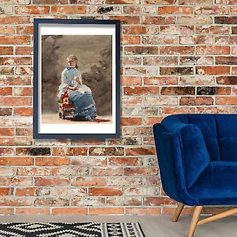 Winslow Homer - Woman Sewing Poster Print Giclee