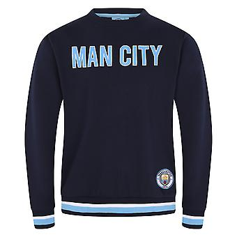 Manchester City FC Official Football Gift Mens Crest Sweatshirt Top