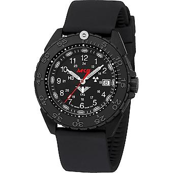 KHS Wristwatch الرجال المنفذ الأسود الصلب CR KHS. ENFBSCR. Sb