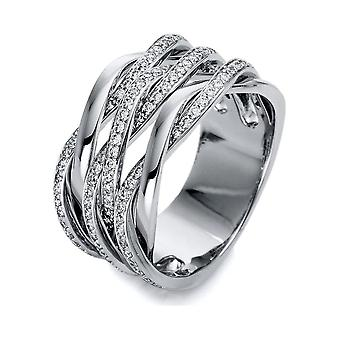 Diamond Ring Ring - 18K 750/- White Gold - 0.77 ct. - 1O520W855 - Ring width: 55